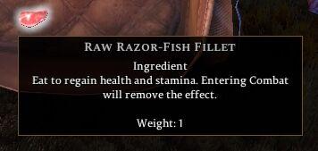 Raw Razor-Fish Fillet