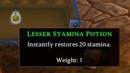 Lesser Stamina Potion