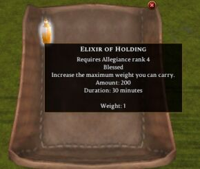 Elixir of Holding