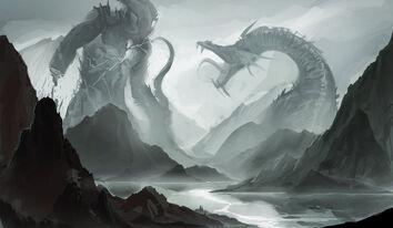 Battle of giants by sakimichan-d4p47w5.jpg