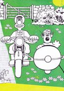 Wallace and gromit on motobike cycle