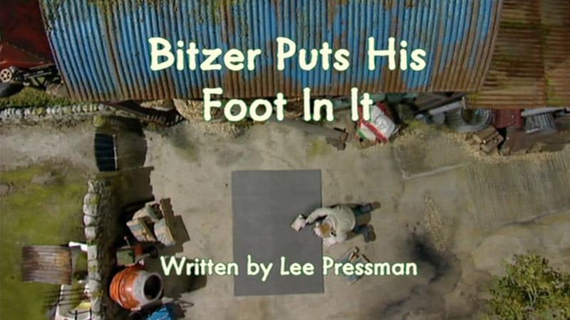 Bitzer Puts His Foot in It