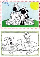 Wallace And Gromit. Bitzer And Shaun Colouring