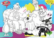 Colour it aardman in the poster. then stick in on youe wall!