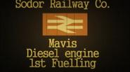 Sodor Railway Co. Mavis Diesel engine 1st Fuelling