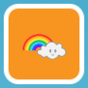 Rainbow With Smiling Cloud.png