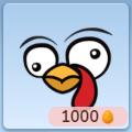 Thanksgiving turkey face stamp icon