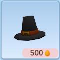 Thanksgiving pilgrim hat icon