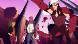 Tung Lashor with Scorpia and Catra Once Upon a Time in the Waste.png