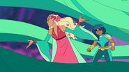 Perfuma assisting Mermista in the Bright Moon Battle