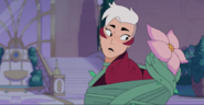 Scorpia tied up with preety Flower