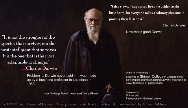 Charles Darwin It is not the strongest of the species that survives.jpg