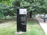 Shimer College navigation sign