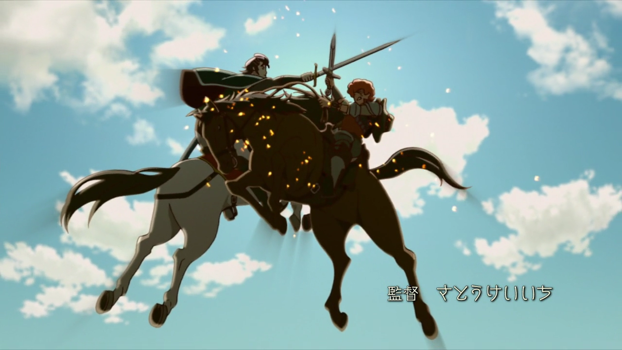 Favaro and Kaisar clashing sword in air.png