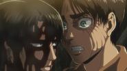 Eren stands up to Levi