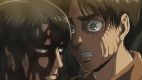 Eren stands up to Levi