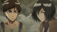 Eren and Mikasa entrust their lives to Armin