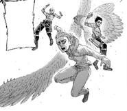 Conny, Mikasa i Annie w drodze do odbicia Armina