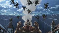 Squad Levi ambush the Armored Titan