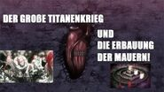 ERBAUUNG der Mauern und TITANENKRIEG! Attack on Titan SPOILER