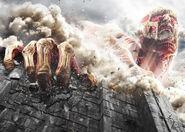 Image promotionelle du live action 2 (avec le titan colossal)