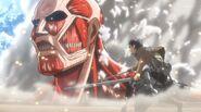 Eren vs Titan Colossal