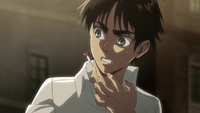 Eren is shot with a tranquillizing dart
