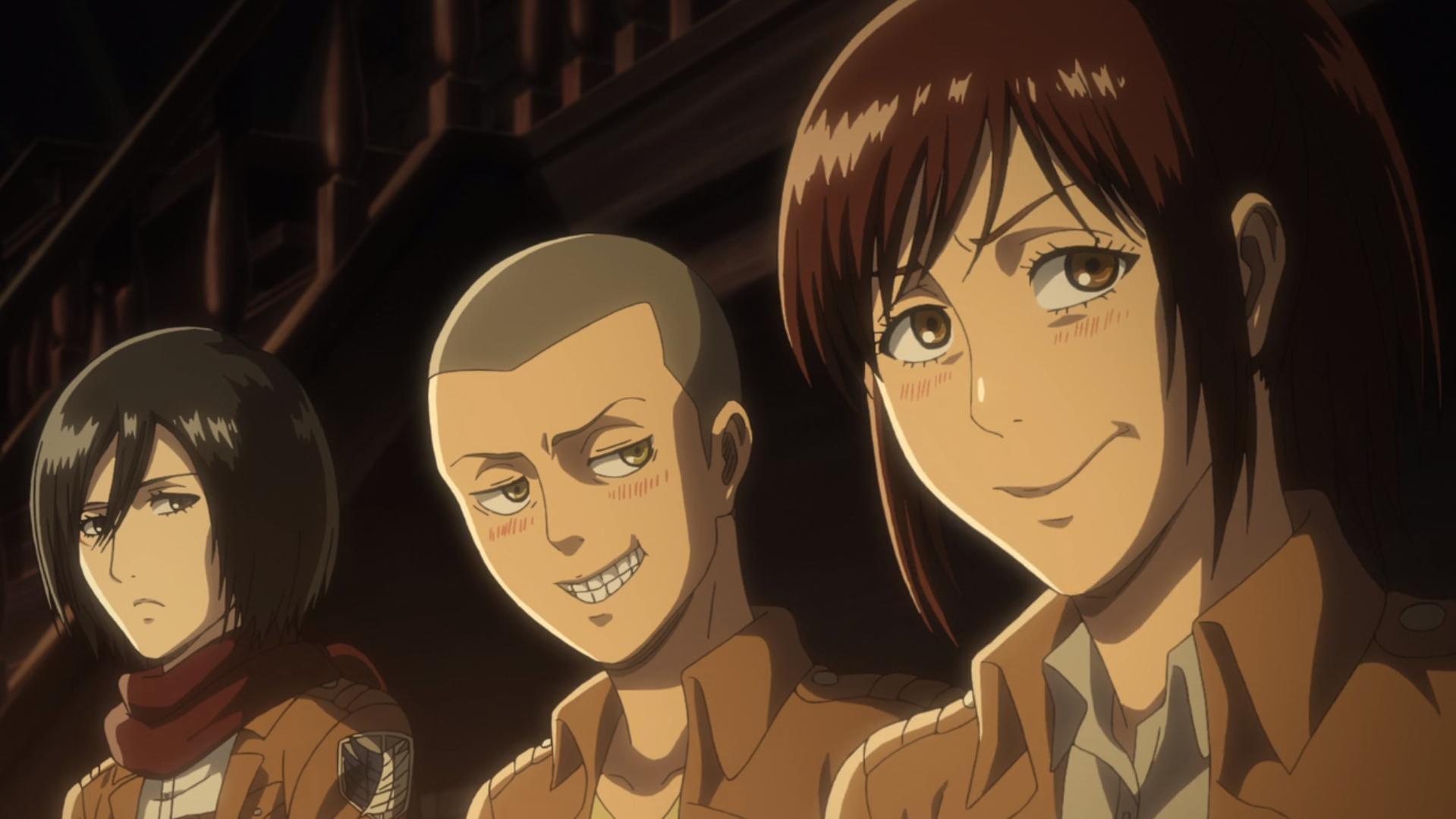 Mikasa, Connie und Sasha befragen Marlo über Hitch.png