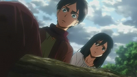 Eren and Mikasa see the corpses