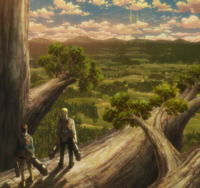 Reiner and Bertholdt see the Scouts' signal flares