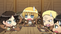Eren and Reiner compete