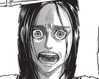 Frieda's darkened eyes