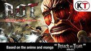 Attack on Titan Wings of Freedom(anglojęzyczny zwiastun gry)