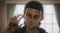 Eren reveals his cut palm