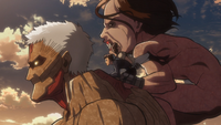 Armored Titan and company escaping