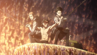 Squad Levi works to free Eren
