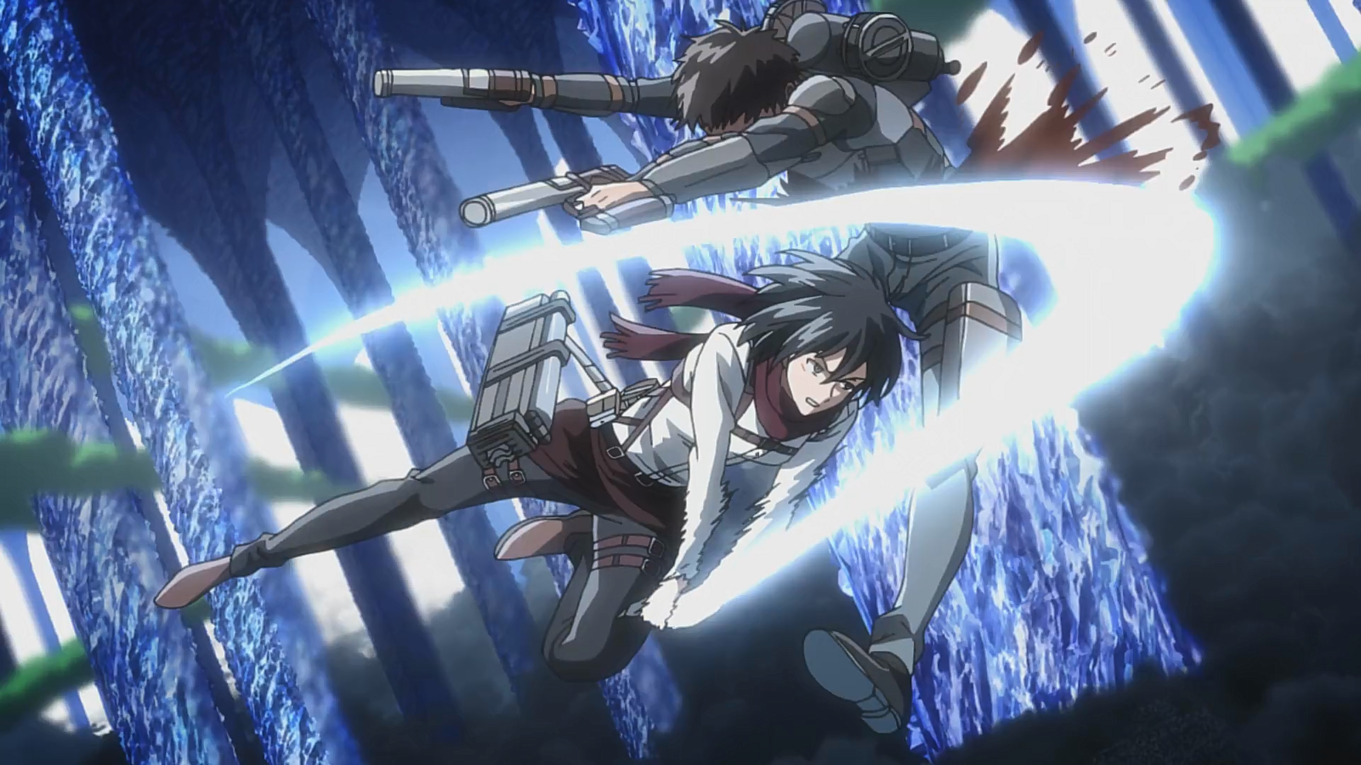 Mikasa tötet einen feindlichen Soldaten.png