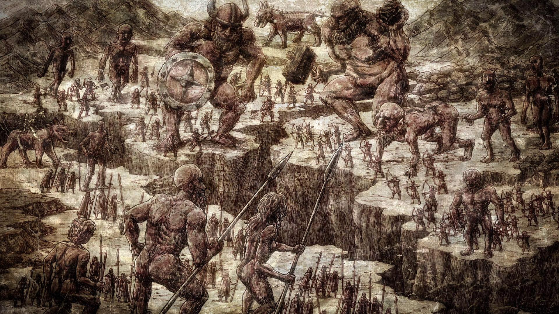 Nine Titans Anime Attack On Titan Wiki Fandom