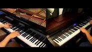 Jiyuu no Tsubasa - Shingeki no Kyojin OP2 -piano Duet with Tehishter-