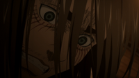 Eren in despair over Sasha's death