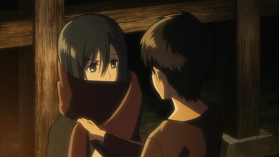 Eren gibt Mikasa seinen Schal (Anime).png