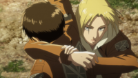 Annie throws Eren