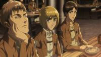 Jean complains about Eren's mumbling