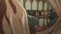 Bertholdt is eaten by Armin's Pure Titan