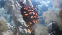 The Colossal Titan falls