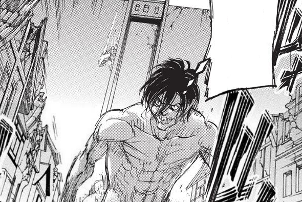 Armored Titan climbing down Wall Maria.png