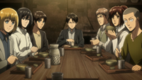 Squad Levi at the table