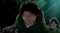 Levi talks to Eren