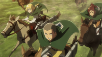 Scout Regiment rides to rescue Eren