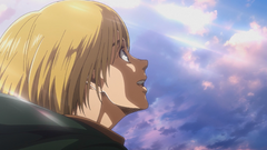 Armin delighted as he rides toward the sea.png